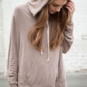 Brandy Melville Layla Hoodie in taupe one size